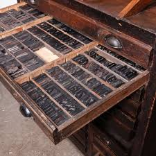 cabinet with letterpress 1920s