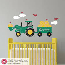 Tractor Boy Wall Decal Boys Wall Decals Toddler Boys Room Boys Tractor Bedroom