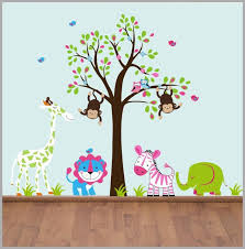 Nursery Wall Decal Animal Wall Decals Safari Stickers Nature Nurserydecals4you