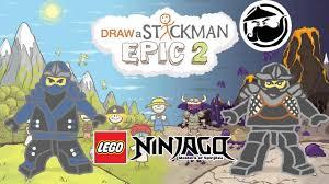 LEGO Ninjago MOVIE Draw A Stickman: EPIC 2 - Drawn Below Gameplay ...