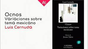 La Aventura Del Saber Ocnos Y Variaciones Sobre Un Tema Mexicano