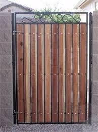 This Would Be Simple To Do Iron Garden Gates Wood Gate Backyard Gates
