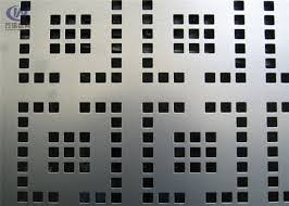 Decorative Galvanized Steel Perforated Metal Wall Cladding Mesh Fence Panel