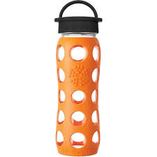 22oz glass water bottle with silicone