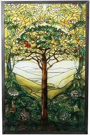 10 inch stained glass tiffany tree