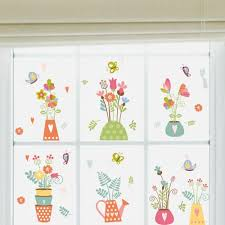 Vova Removable Vinyl Decal Art Mural Flower Pot Home Living Room Decor Wall Sticker Stickers On The Wall Room Decoration For Kids Wc