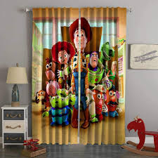 3d Printed Toy Story Style Custom Living Room Curtains Kids Room Curtains Curtains Living Room Kids Curtains