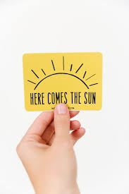 Here Come The Sun Sticker Vinyl Stickers Laptop Sticker Car Etsy