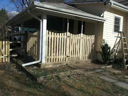 5 Foot Wooden Space Picket Fence With A Dip In Mclean Va Beitzell Fence Fence Residential Picket Fence Panels
