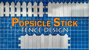 Popsicle Stick Miniature Fence Part 2 Diy Full Tutorial Youtube