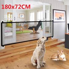 Mesh Pet Gate Safety See Through Fence Practcial Strong Woven Door For Indoor And Outdoor Safe Guard For Small Dog Cat Puppy Walmart Canada