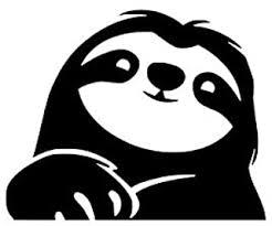Amazon Com Sloth Bumper Stickers Decals Magnets Exterior Accessories Automotive