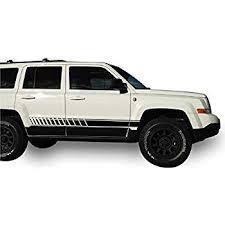 Sticker Decal Lower Offroad Stripes For Jeep Patriot 2007 2015 Fender Roof Rack