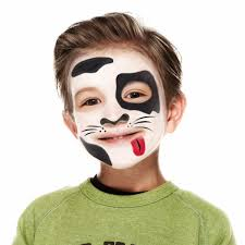 face paint guides for kids 3 step