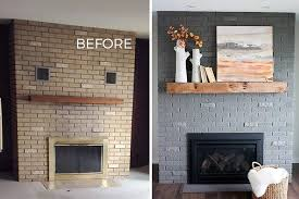 fixer upper brick fireplace makeover