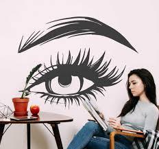 Beauty Salon Woman S Eye Wall Decal Tenstickers