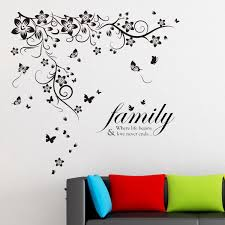 Ebern Designs New Huge Butterfly Vine And Family Quote Wall Decal Reviews Wayfair