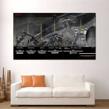 Metal Gear Solid Time Line Block Giant Wall Art Poster