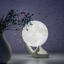 Home Kitchen Kids Home Store Kids Room Decor Brightworld Moon Lamp Moon Night Light 3d Printed 7 1in Large Lunar Lamp For Kids Gift For Women Usb Rechargeable Touch Contral Brightness Warm