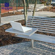 stainless steel outdoor garden bench
