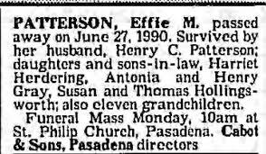 Effie Patterson Dies - Newspapers.com