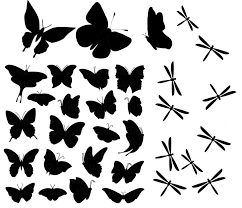 Set Of Butterfly And Dragonfly Decal Stickers Choose Color Stick To Cups Mugs Walls Cars Glass Laptop Etc Wall Mural Nursery Decor