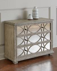 scarlet antiqued mirrored chest