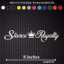 Stance Royalty Vinyl Die Cut Sticker Decal Jdm Crown Slammed Bumper Decor 20cm Stickers Aliexpress