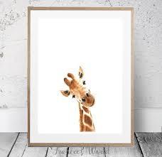 Giraffe Art Print Baby Giraffe Art Safari Animal Print Baby Giraffe Print Kid Room Home Decor Animal Art Baby Giraffe Nursery Art By Francee S World Catch My Party