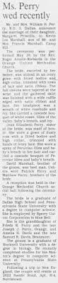 Margaret Priscilla Perry Marriage - Newspapers.com