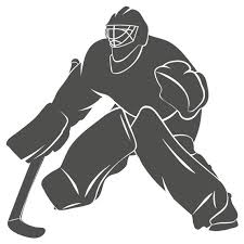 Wall Decal Nursery Hockey Goalie Silhouette Wall Sticker Ice Etsy