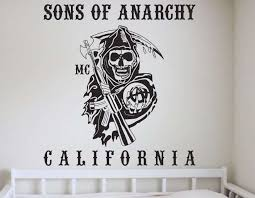 Sons Of Anarchy California Wall Art Decal Wall Decals Wall Stickers Wall Quotes Express Yourself Decals