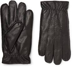 fur lined leather gloves mens