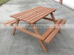 wooden outdoor bench table sets wooden