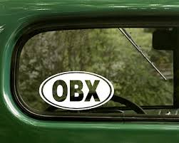 Obx Sticker Outer Banks Decal Oval Window North Carolina Car Truck Bumper Vinyl Auto Parts And Vehicles Car Truck Graphics Decals Magenta Cl