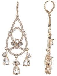 leverback crystal chandelier earrings