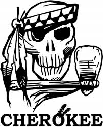 Cherokee Indian Skull Decal Car Or Truck Window Decal Sticker Or Wall Art Decalsrock