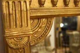 gilded overmantle mirror
