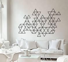 Geometric Wall Decal Triangles Wall Art Minimalist Art Etsy