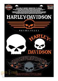 Open Road Harley Davidson Auto Harley Davidson Willie G Skull 4 Pc Large Decal Set Dw1199669