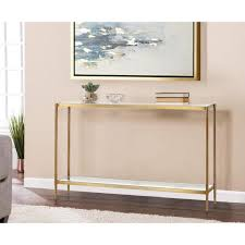 gold metal legs rectangle console table