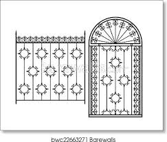 Wrought Iron Gate Door Fence Window Grill Railing Design Art Print Barewalls Posters Prints Bwc22663271