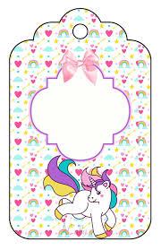 Etiqueta Unicornio Invitacion De Unicornio Imprimibles
