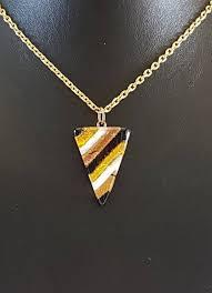 triangle murano glass pendant necklace