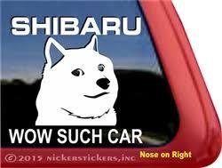 Shibaru Wow Such Car Shiba Inu Doge Decals Stickers Nickerstickers