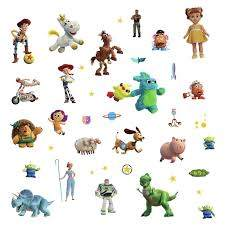 Roommates Toy Story 4 Characters Peel And Stick Wall Decals 38 Kids Room Stickers Walmart Com Walmart Com