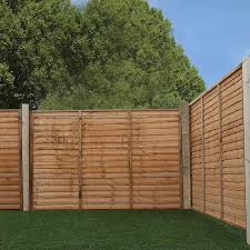 lap garden wooden fence panels