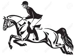 Horse And Rider Jumping Over A Fence Equestrian Stadium Showjumping Horse Rider Horses Horse Logo