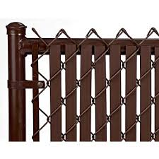Amazon Com Tube Slats Privacy Inserts For Chain Link Fence Double Wall Vertical Bottom Locking Slats For 6 Fence Height Brown Garden Outdoor