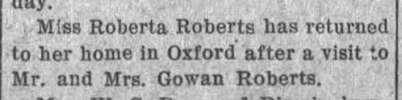 Roberta Aurelia Roberts - Brother: Richard Gowan Roberts ...